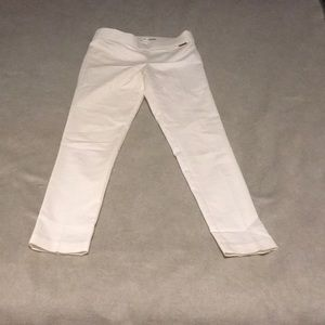 Calvin Klein cream high waisted stretch pullover  trouser pants xs BNWOT